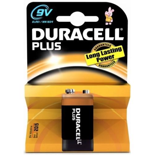 DURACELL  baterie alkalická PLUS 9V/6LR61/MN1604 ; BL1