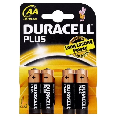 DURACELL baterie alkalická PLUS AA/LR6/MN1500 ; BL4