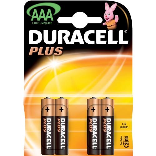 DURACELL  baterie alkalická PLUS AAA/LR03/MN2400 ; BL4