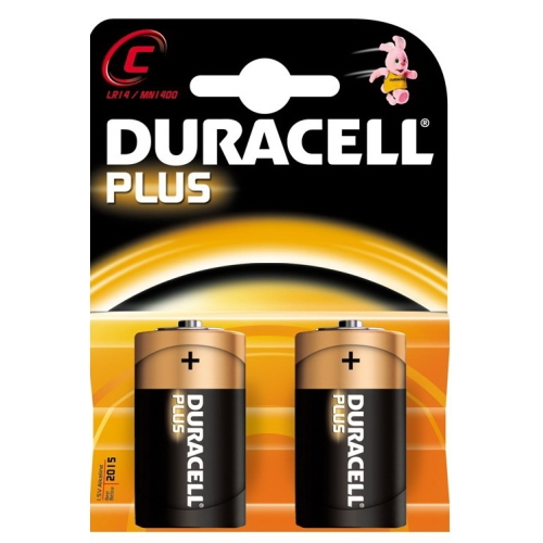 DURACELL baterie alkalická PLUS C/LR14/MN1400 ; BL2