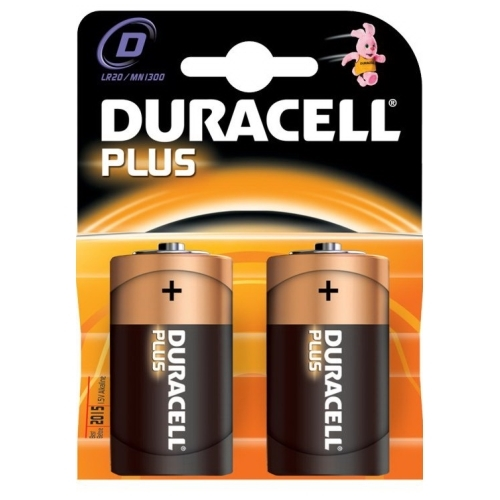 DURACELL baterie alkalická PLUS D/LR20/MN1300 ; BL2