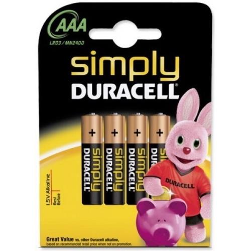 DURACELL baterie alkalická SIMPLY AAA/LR03/MN2400 ; BL4