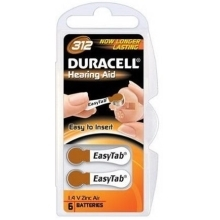 DURACELL baterie do naslouchadel  312 Easy Tab 6ks