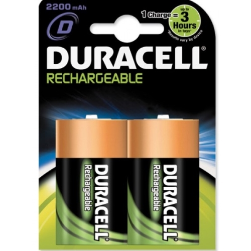 DURACELL baterie nabíjecí 2200mAh D/HR20 ; BL2