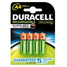 DURACELL  baterie nabíjecí STAY.CHARGED 2500mAh AA/HR6 ; BL4