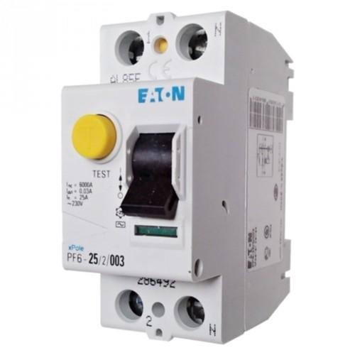 EATON chránič.proud 2-pól 25A 30mA  6kA /286492/