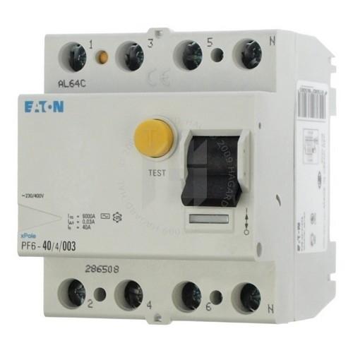 EATON chránič.proud 4-pól 40A 30mA 6kA /286508/