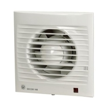 ELDESIGN ventilator DECOR 100 CRZ IP44 vc.zp.klapky + dobeh 1-30m.