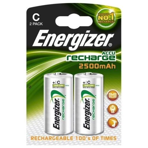 ENERGIZER baterie nabíjecí POWER.PLUS 2500mAh C/HR14 ; BL2