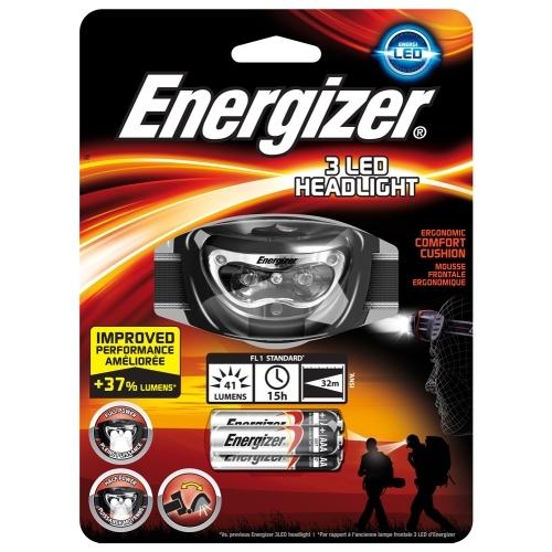 ENERGIZER svítilna čelová 3LED Headlight ; +3xAAA
