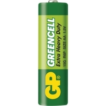 GP baterie zinko-chlorid. GREENCELL AA/R6/15G ; 4-shrink