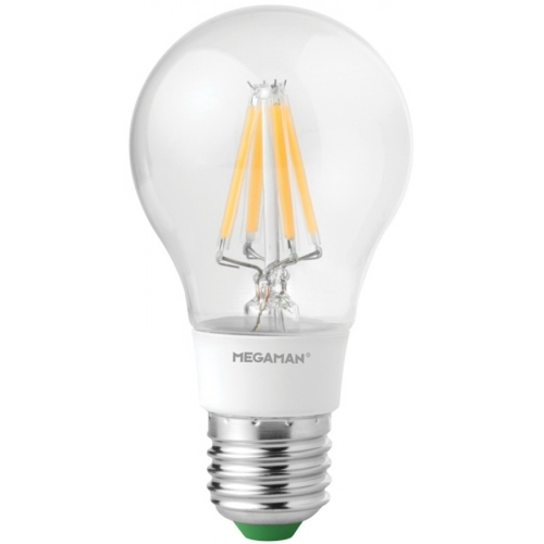 MEGAMAN LED filament.bulb A60 5.5W/40W E27 2700K 470lm Dim 15Y