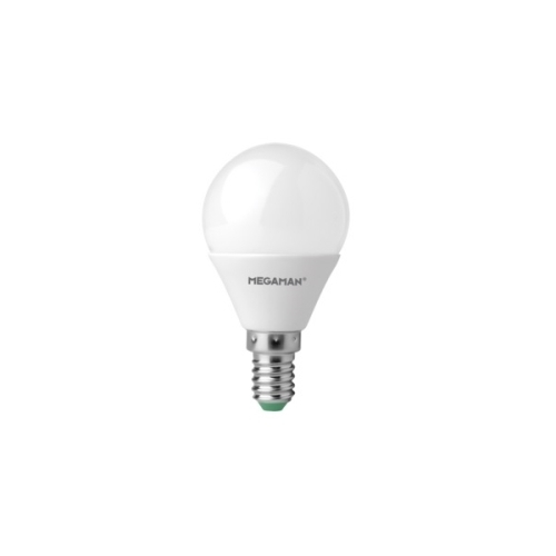 MEGAMAN LED lustre P45 5.5W/40W E14 2800K 470lm NonDim 15Y opal