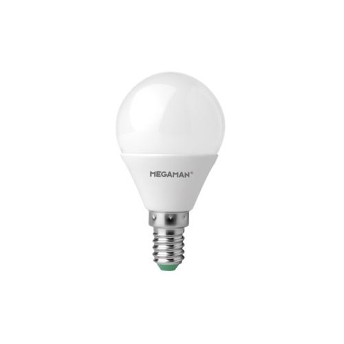 MEGAMAN LED lustre P45 5.5W/40W E14 4000K 470lm NonDim 15Y opal