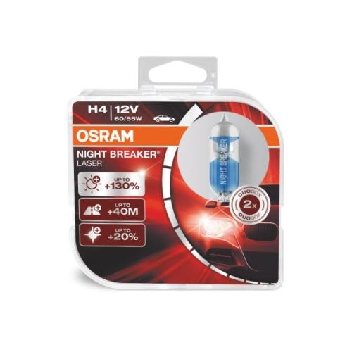 OSRAM autozarov. H4 NIGHT BREAKER LASER 64193NBL 12V 60/55W P43t HCBox-2ks