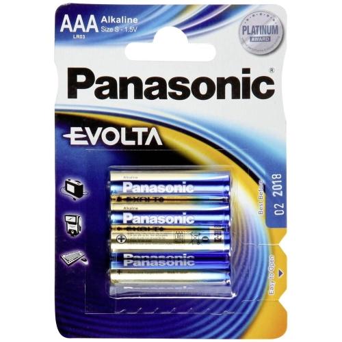 PANASONIC baterie alkalická EVOLTA AAA/LR03 ; BL4