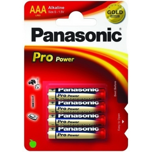 PANASONIC baterie alkalická PRO.POWER AAA/LR03 ; BL4
