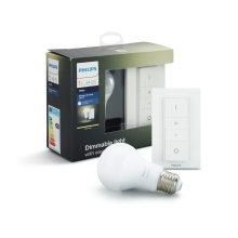 PHILIPS HUE DIM kit; switch + 1xA60 9.5W/60W E27 2700K 800lm Dim 25Y