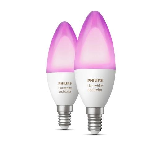 PHILIPS HUE LED candle B39 6.5W 2200-6500K/RGB Dim set-2ks