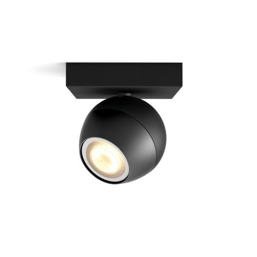 PHILIPS HUE svit.prisaz.LED Buckram 1x5.5W GU10 250lm/WH IP20 ; černá bez.ov