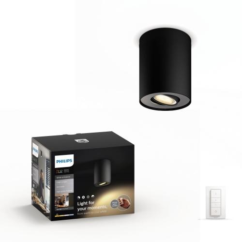 PHILIPS HUE svit.prisaz.LED Pillar 1x5.5W GU10 250lm/WH IP20 ; černá