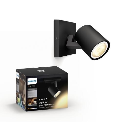 PHILIPS HUE svit.prisaz.LED Runner 1x5.5W GU10 250lm/WH IP20 ; černá bez.ovl