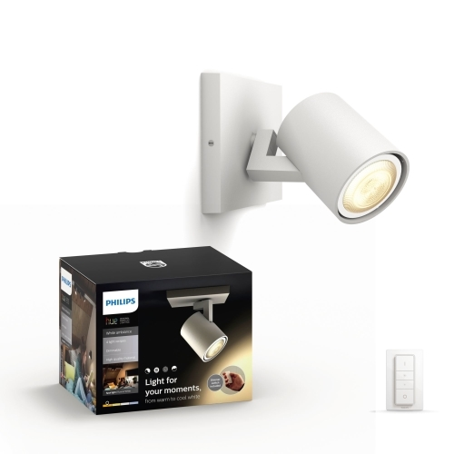 PHILIPS HUE svit.prisaz.LED Runner 1x5.5W GU10 IP20 ; bila +switch
