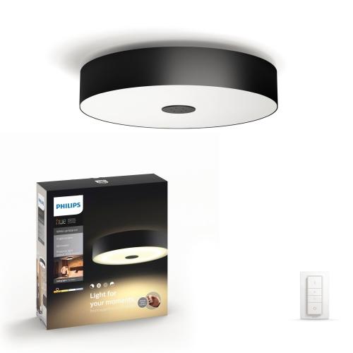 PHILIPS HUE svit.strop.LED Fair 1x39W 3000lm IP20 ; černá +switch