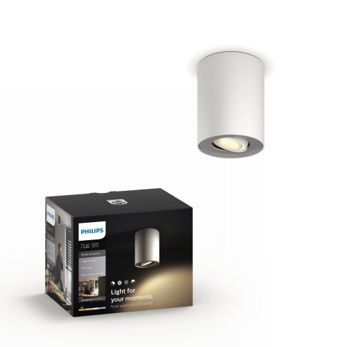 PHILIPS HUE svit.strop.LED Pillar 1x5.5W GU10 IP20 ; bila