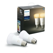 PHILIPS HUE W.AMBIANCE LED bulb A60 8.5W/60W 2200-6500K 806lm Dim  set-2ks