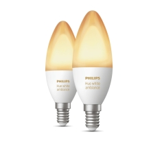 PHILIPS HUE W.AMBIANCE LED candle B39 6W E14 2200-6500K 470lm Dim  set-2ks