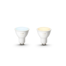 PHILIPS HUE W.AMBIANCE LED reflector PAR16 5.5W GU10 2200-6500K Dim  set-2ks