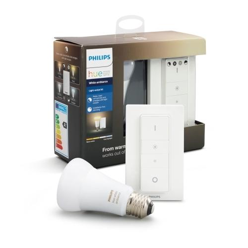 PHILIPS HUE W.AMBIANCE light.recipe kit; sw.+1xA60 9.5W/60W E27 2200-6500K