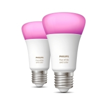 PHILIPS HUE W&C.AMBIANCE bulb A60 9W 2200-6500K/RGB set-2ks