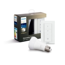 PHILIPS HUE WHITE DIM kit; switch + 1xA60 9W/60W E27 2700K 806lm Dim 25Y EUR