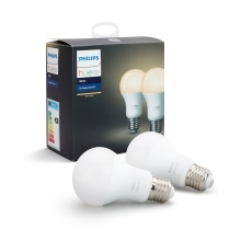 PHILIPS HUE WHITE LED bulb A60 9.5W/60W E27 2200-6500K 806lm Dim  set-2ks