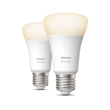 PHILIPS HUE WHITE LED bulb A60 9W/60W E27 2700K 806lm Dim  set-2ks