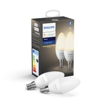 PHILIPS HUE WHITE LED candle B39 5.5W E14 2700K Dim  EU set-2ks