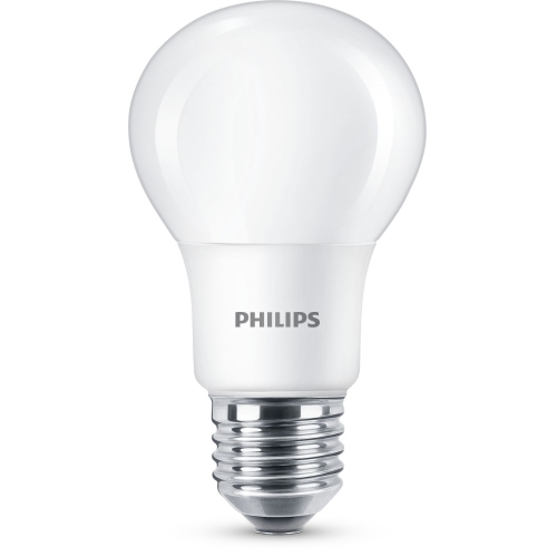 PHILIPS LED bulb A60 5.5W/40W E27 2700K 470lm NonDim 15Y opal BL
