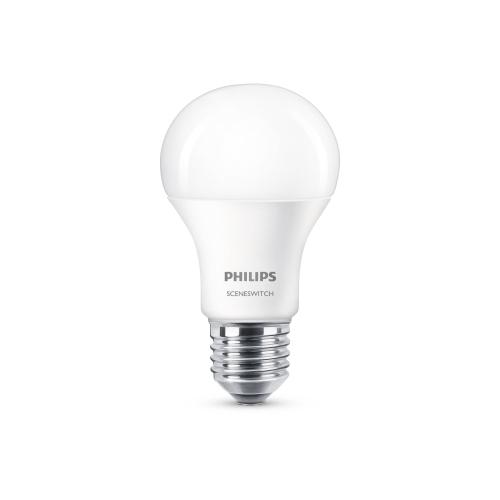 PHILIPS LED bulb SSW A60 9.5W/60W E27 2700/4000K 806lm NonDim 15Y opal BL