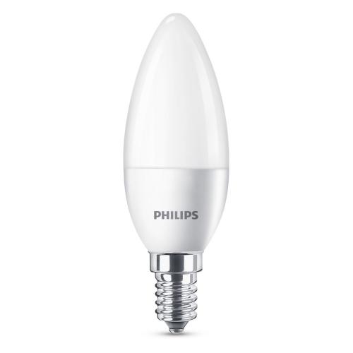 #PHILIPS LED candle B35 5.5W/40W E14 2700K 470lm NonDim 15Y opal BL