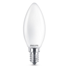 PHILIPS LED candle Classic B35 4.3W/40W E14 2700K 470lm NonDim 15Y opal BL