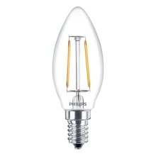 PHILIPS LED candle.filam. B35 2W/25W E14 2700K 250lm NonDim 15Y