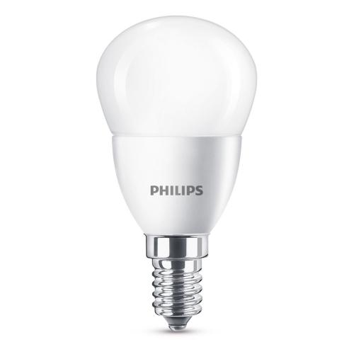 PHILIPS LED lustre P45 5.5W/40W E14 2700K 470lm NonDim 15Y opal BL