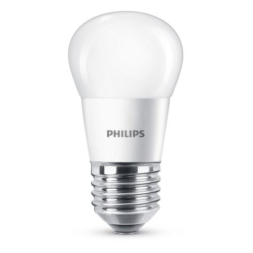 PHILIPS LED lustre P45 5.5W/40W E27 2700K 470lm NonDim 15Y opal BL