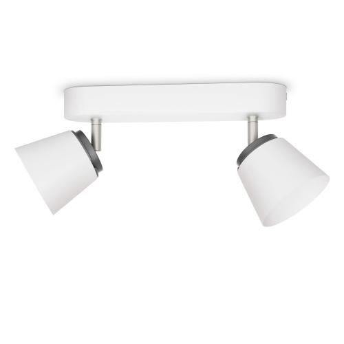 PHILIPS svit.bodov.LED myLiving Dender 2x4W 660lm IP20 ; bílá