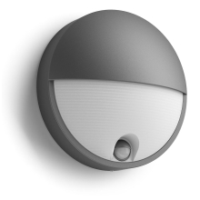 PHILIPS svit.nasten.LED myGarden Capricorn 1x6W 600lm IP44 ; antracit senzor