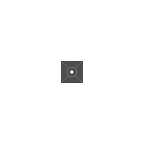 SAPISELCO příchytka stahovacího pásku do 4mm; 19x19 samolep.černá/25 ks