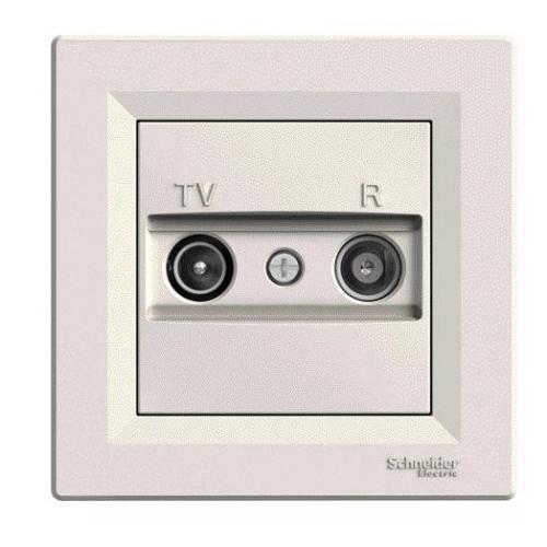 Schneider ASFORA komplet jednonasobny zásuv.anténní TV-R koncova CREAM