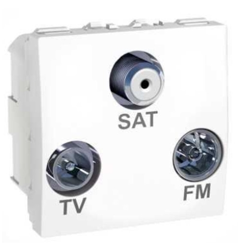 Schneider UNICA strojek 2modul zásuv.anténní TV/R-SAT-F konektor POLAR